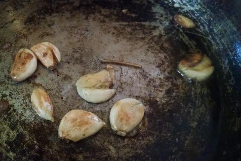 browned garlic